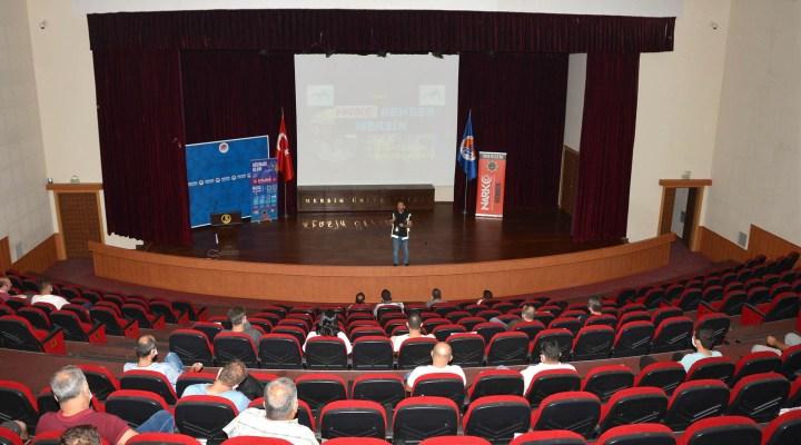 Özel güvenlik görevlilerine yönelik hizmet içi eğitim programı düzenlendi