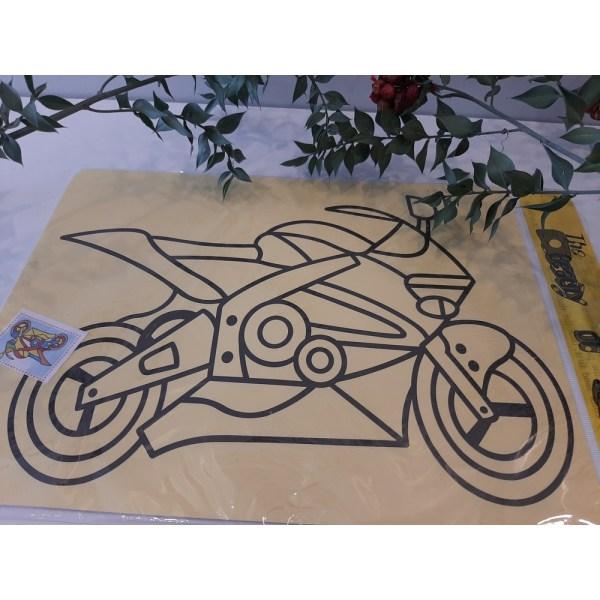 Büyük Boy Motosikletli Kum Boyama Aktivite Seti