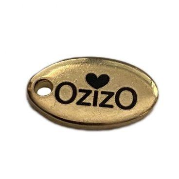 label ovaal klein goud