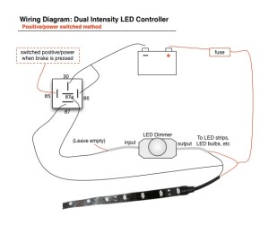 Wiring Led Brake Lights  Running Light Controller Diagram
