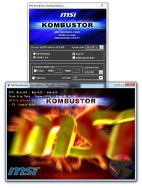 MSI Kombustor, graphics card burn-in test and OpenGL benchmark