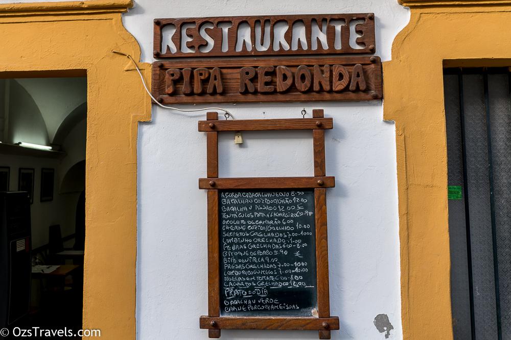 Restaurante Pipa Redonda Évora Portugal