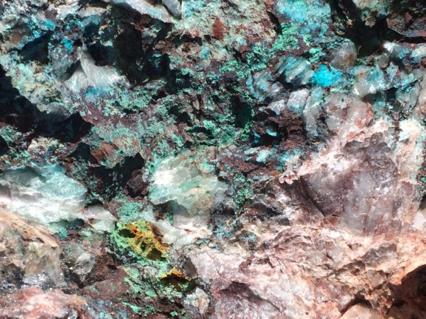 Magic Rocks, taken by Ralph Philabaum features a cupric/ferrous mineral matrix located near Colossal Cave, AZ ,Philabaum Professional Painting, Tucson, AZ