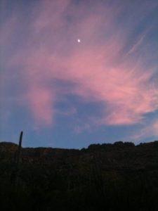 Sabino Canyon at sunset