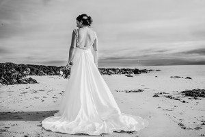 wedding day bride beach photographs