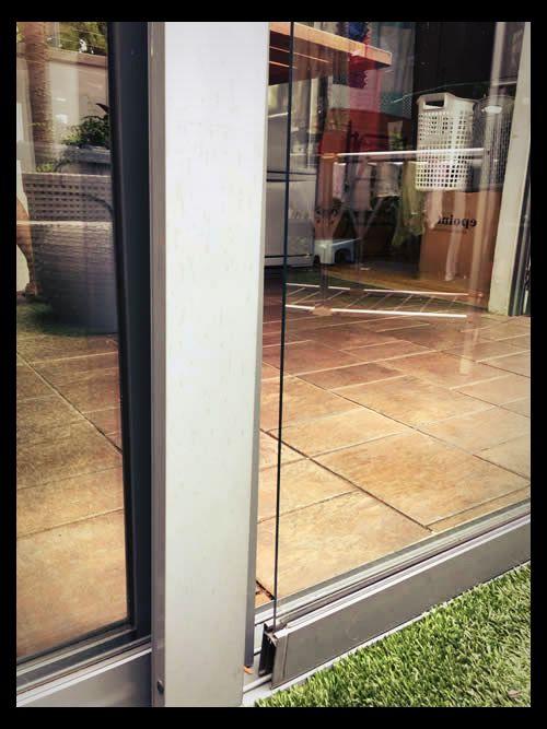 sliding glass door repair track