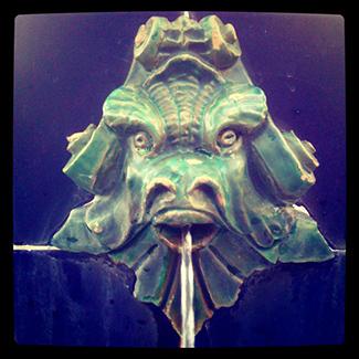 El pez lobo andaluz que escupe agua por la boca