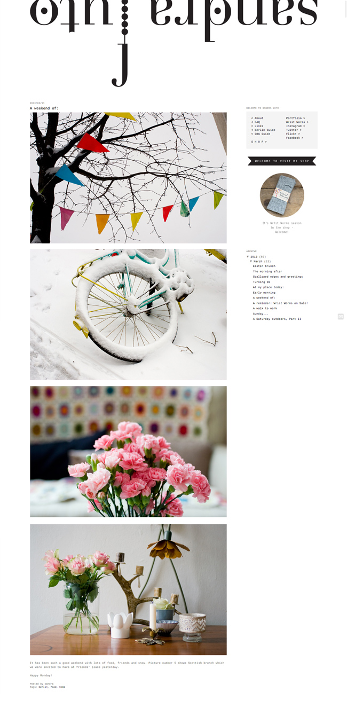Sandra Juto Blog