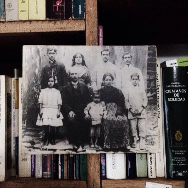 La familia Gasperi Méndez, mis tatarabuelos con sus hijos