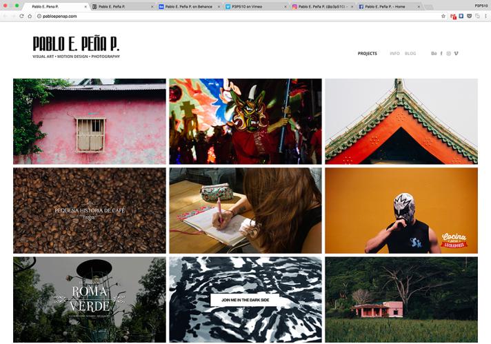PabloEPenaP.com – New Online Portfolio