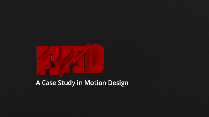 A CASE STUDY IN MOTION DESIGN