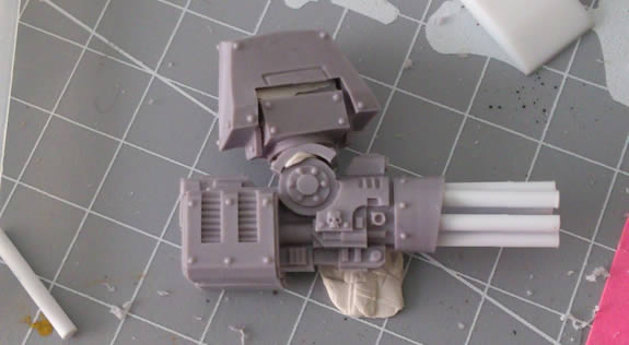 Kheres Assault Cannon with replaced barrels