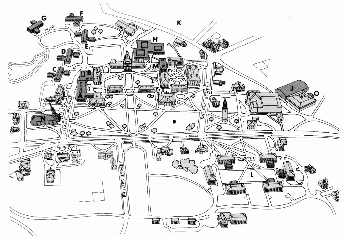 Phillips Academy Andover Campus Map