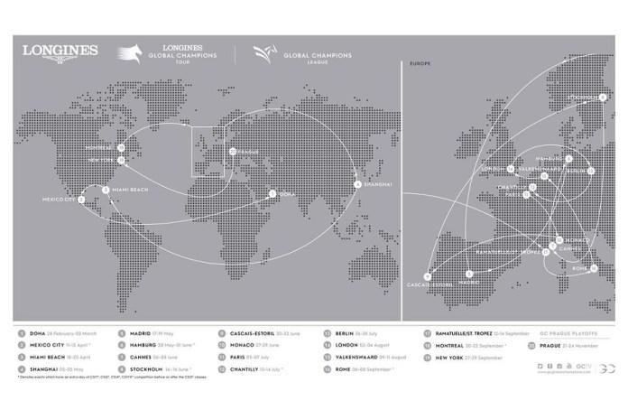 New York, Montreal en Stockholm toegevoegd aan Global Champions Tour