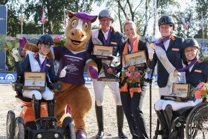 Para-dressuurteam sluit EK Rotterdam af met 9 medailles