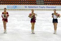 Sieger Damen auf dem Eis