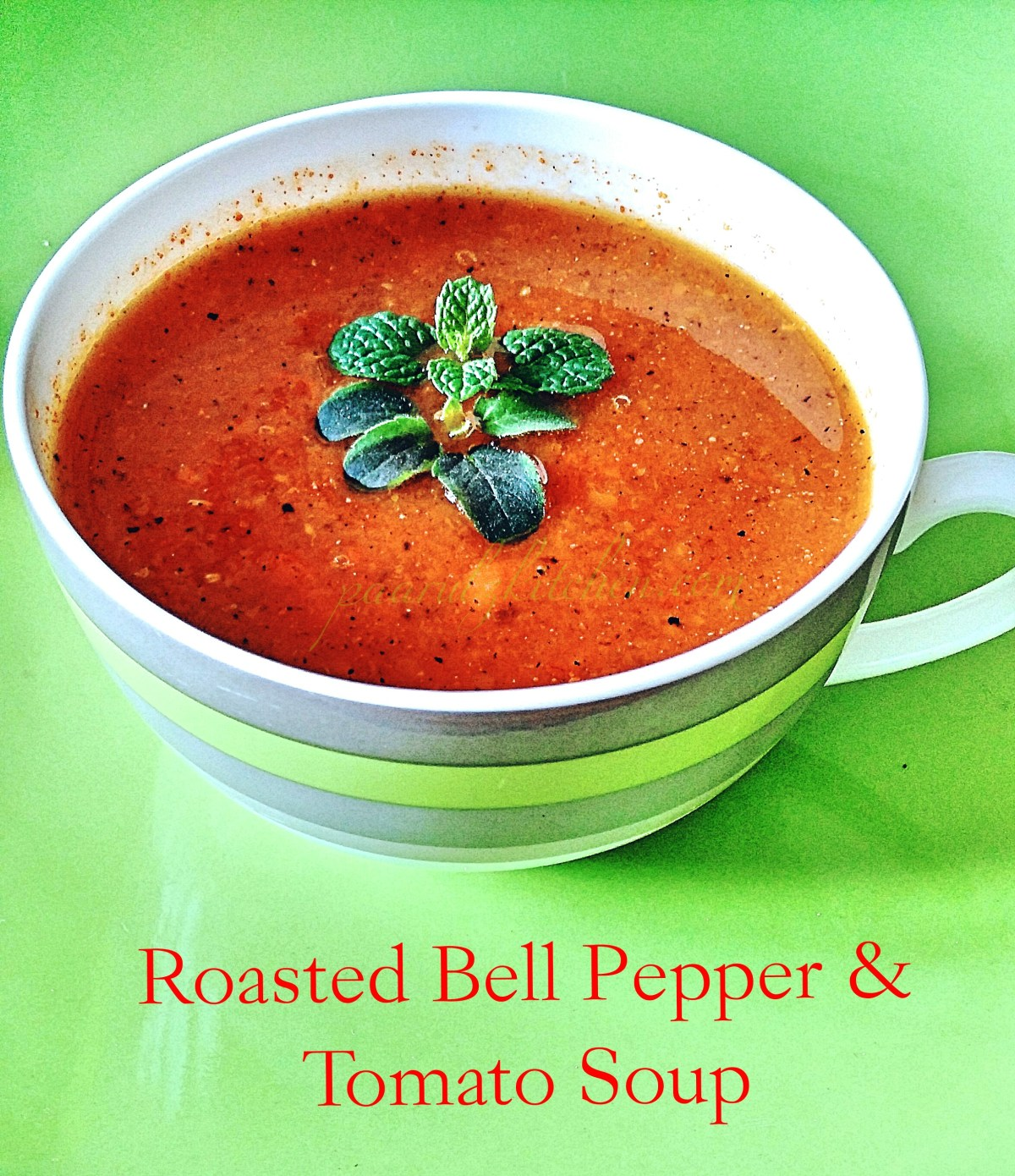 Roasted bell pepper & tomato soup (5)
