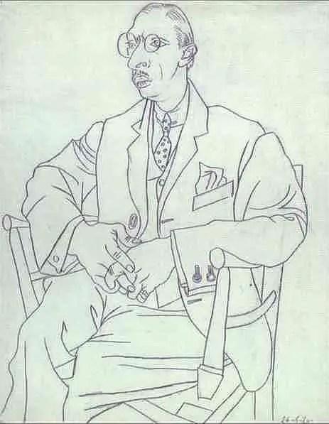 Pablo Picasso. Portrait of Igor Stravinsky, 1920