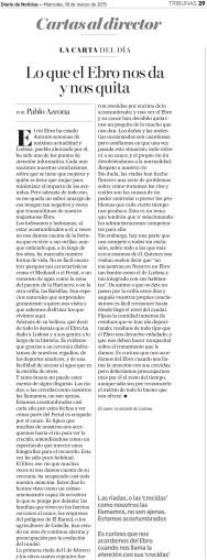 Carta al Director publicada en el Diario de Noticias