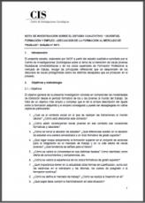 Estudio cualitativo: Juventud, formación y empleo: adecuación de la formación al mercado de trabajo