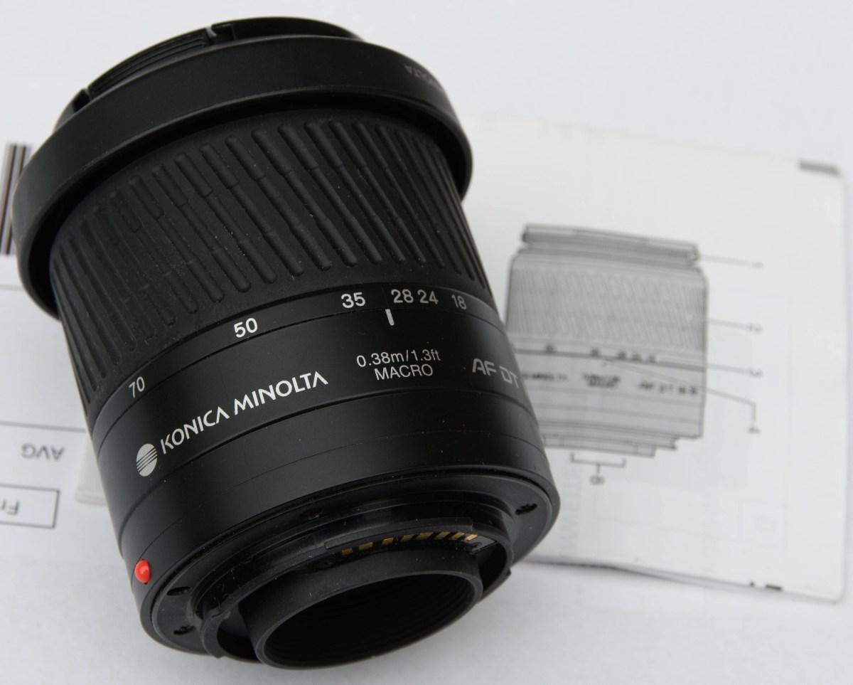 Konica Minolta zoomlens AF DT 18-70mm f3.5-5.6 (D)