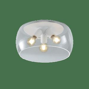 Plafonnier bulle en verre VALENTE blanc