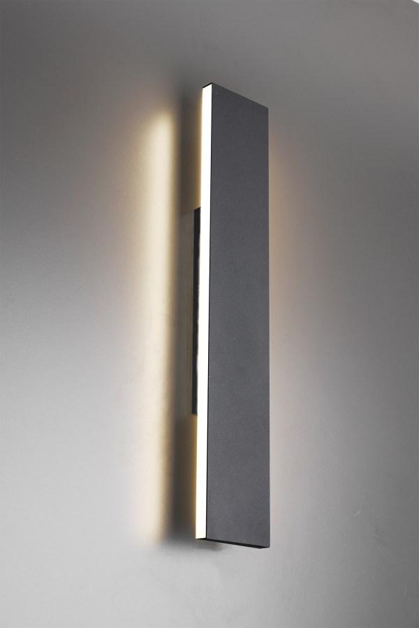 Applique murale métal SMD LED, 9W · 2x 900lm, 3000K, 47×8