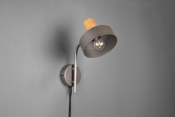 Applique Bois & Metale Nickel Antique E14 sans ampoule(s)