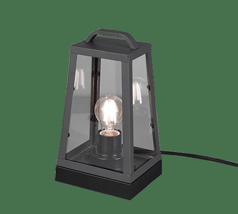Lampe de table extérieur Vintage, anthracite/rouille, sans ampoule(s)