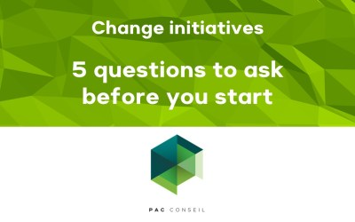 Five questions to ask before starting a change project