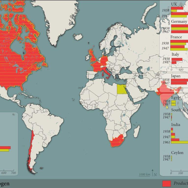 World consumption of Nitrogen - Guillaume Sciaux - Cartographe professionnel