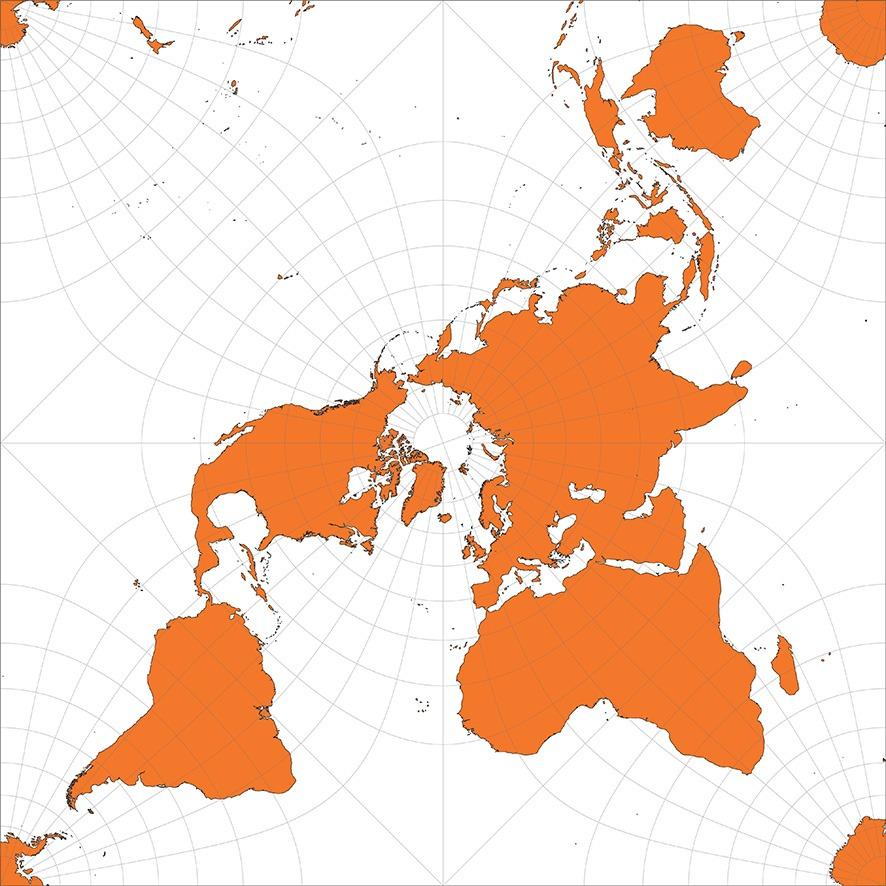Projection cartographique quincuncial de Peirce - Guillaume Sciaux - Cartographe professionnel