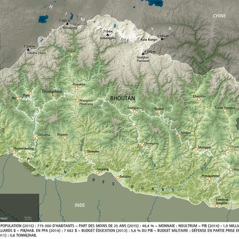 Atlas-dessous-des-cartes-bhoutan - Guillaume Sciaux - Cartographe professionnel
