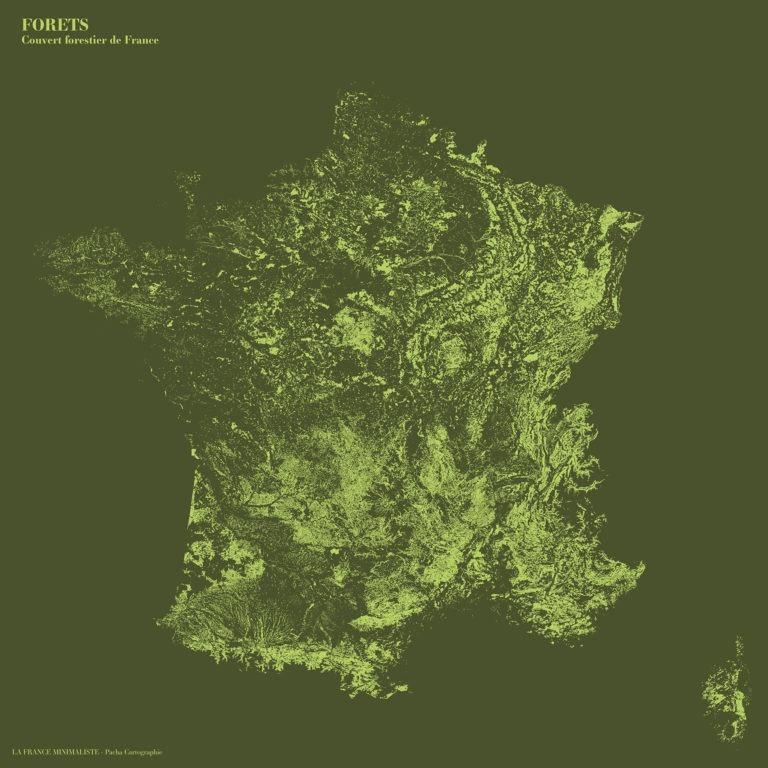 La France minimaliste - Forêts - Guillaume Sciaux - Cartographe professionnel
