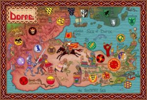 Game of Thrones - Carte moyen age (11) - Dorne - Guillaume Sciaux - Cartographe professionnel