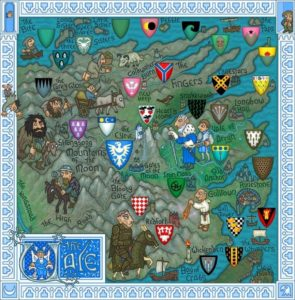 Game of Thrones - Carte moyen age (4) - val d'Arryn - Guillaume Sciaux - Cartographe professionnel