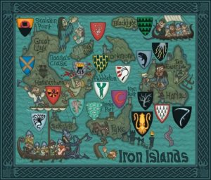 Game of Thrones - Carte moyen age (5) - Iles de fer - Guillaume Sciaux - Cartographe professionnel