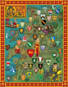 Game of Thrones - Carte moyen age (6) - Régions de l'ouest - Guillaume Sciaux - Cartographe professionnel