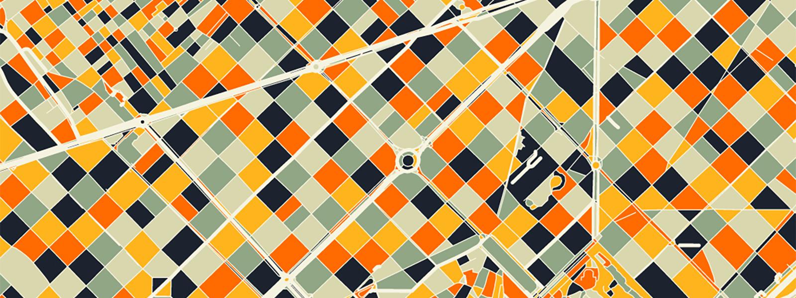 Carte minimaliste Barcelone - Guillaume Sciaux - Cartographe professionnel