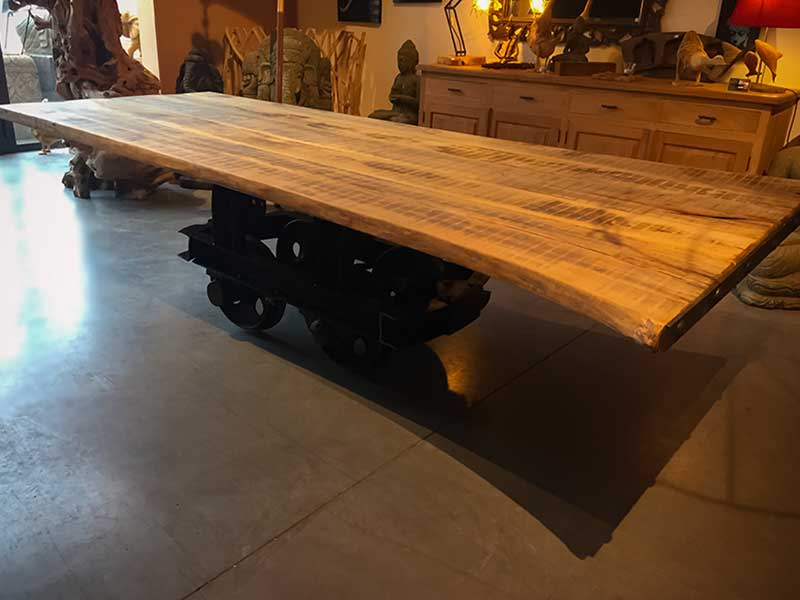 grande table bois exotique mobilier