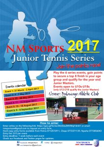 NM Sports Junior Tennis Series August 2 2017 @ Bulawayo Athletic Club