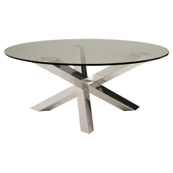 Round Table In Stainless Steel 36 Larkin Pacific Compagnie