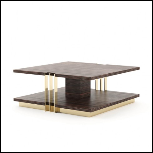 coffee table made in solid matte ebony