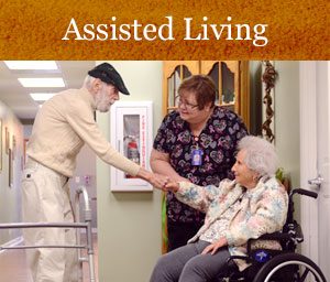 Assisted Living Residents Shake Hands