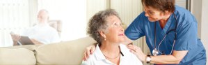 Slider Image. Elder Women With Nurse