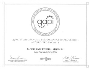 Award for Quality Assurance And Performance Improvement Accredited Facility