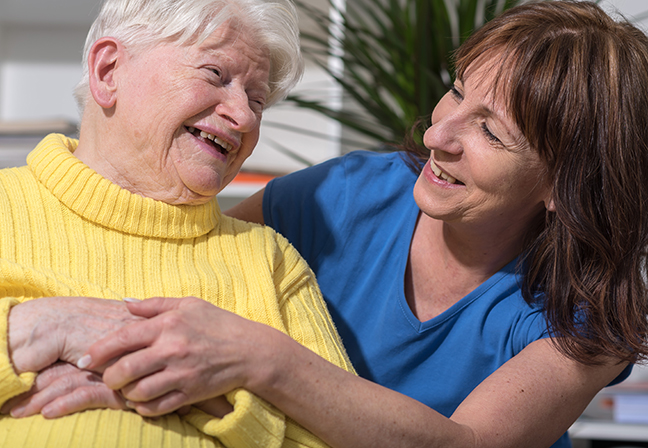 Visiting someone skilled care