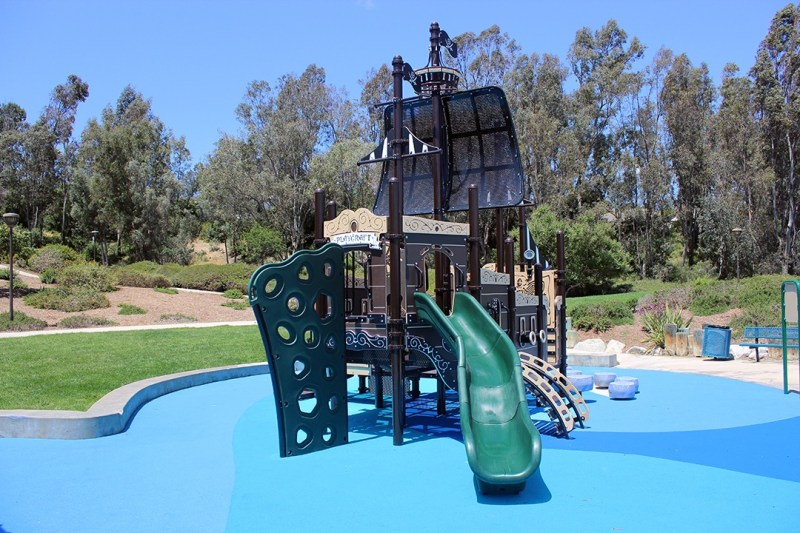 pirate themed playground equipment rear