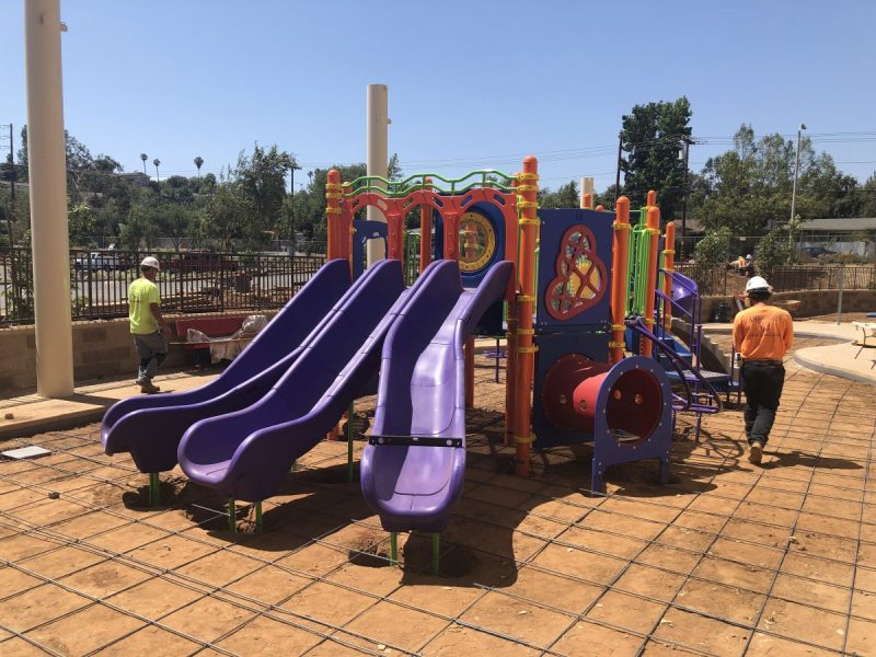 Perfect playground being installed at Emmanuel Faith Community Church