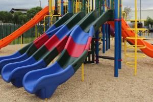 church playground equipment slide